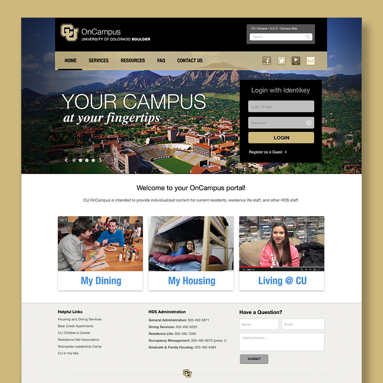 University of Colorado OnCampus Portal